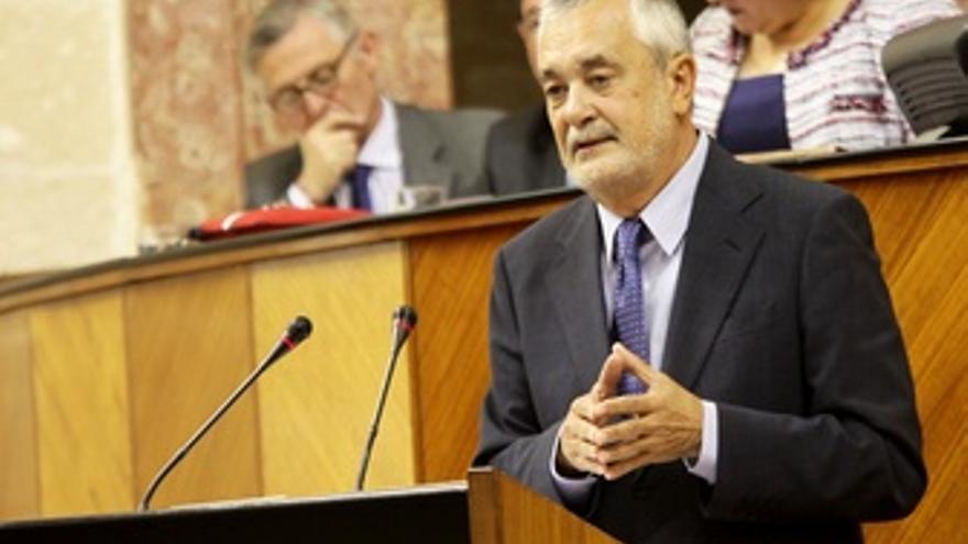 Griñán, Durante La Segunda Sesión Del Debate De Investidura