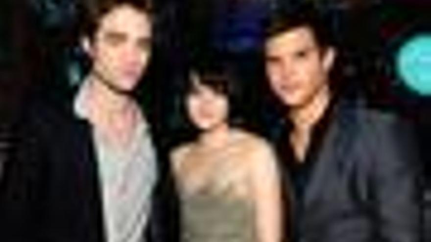Pattinson, Stewart y Lautner en los MTV Luna Nueva Crepúsculo