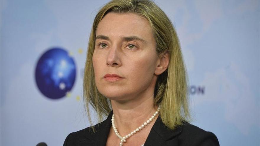 """Mogherini pide a Libia """"compromiso"""" con la ONU para lograr la paz"""
