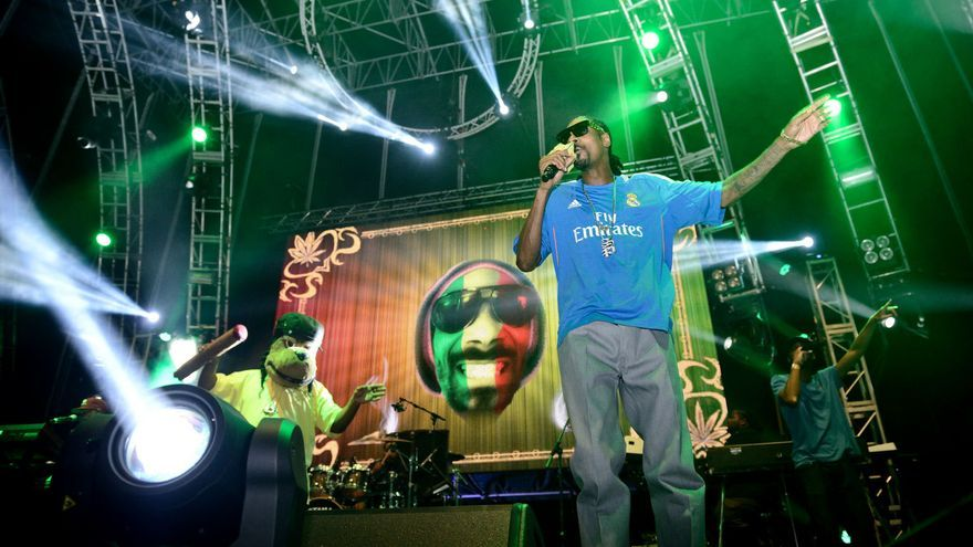 Snoop Dogg aka Snoop Lion en el Dreambeach