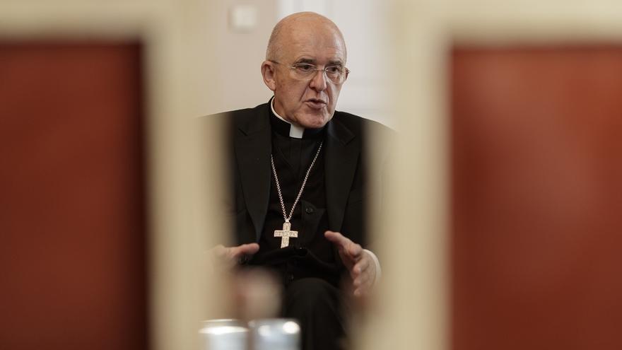 """El cardenal Carlos Osoro: """"Las puertas nunca se pueden cerrar a nadie"""", dice sobre la crisis de los refugiados"""