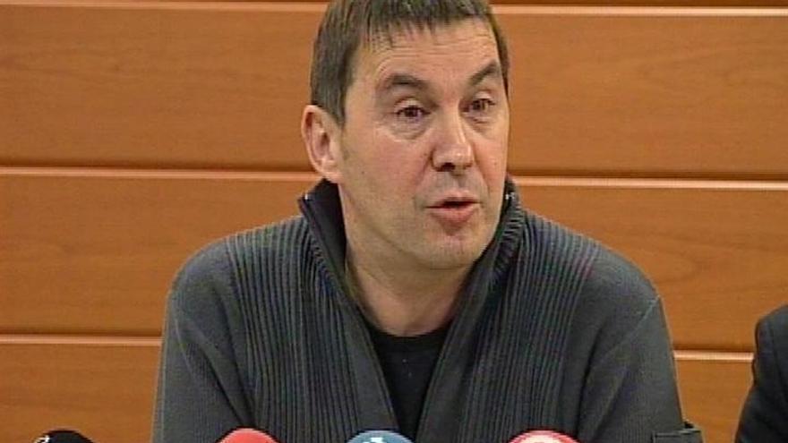 Otegi intervendrá el 1 de marzo en una campa a 200 metros de la cárcel de Logroño tras salir de prisión