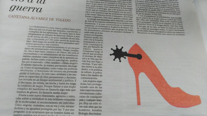 El 'No a la guerra' de Cayetana Álvarez de Toledo contra la huelga feminista del 8M.