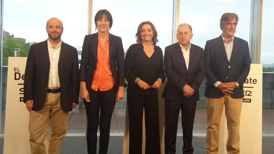 Villares, Pontón, Leiceaga y Puy, con Pepa Bueno en el inicio del debate