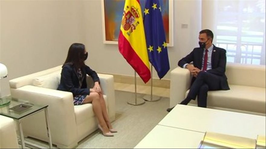VIDEO |  Arrimadas arrives at Moncloa for his meeting with Sánchez on the Budgets