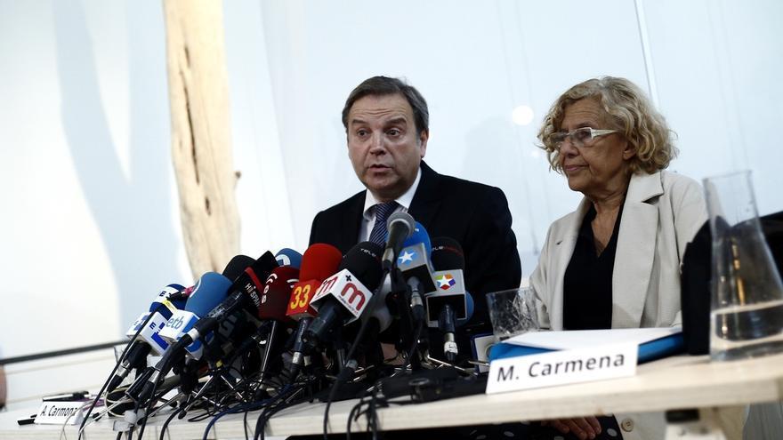 """Carmona pide a Aguirre que deje de """"enredar"""" y se ofrece para que la popular sea """"la taquillera del Circo del Sol"""""""