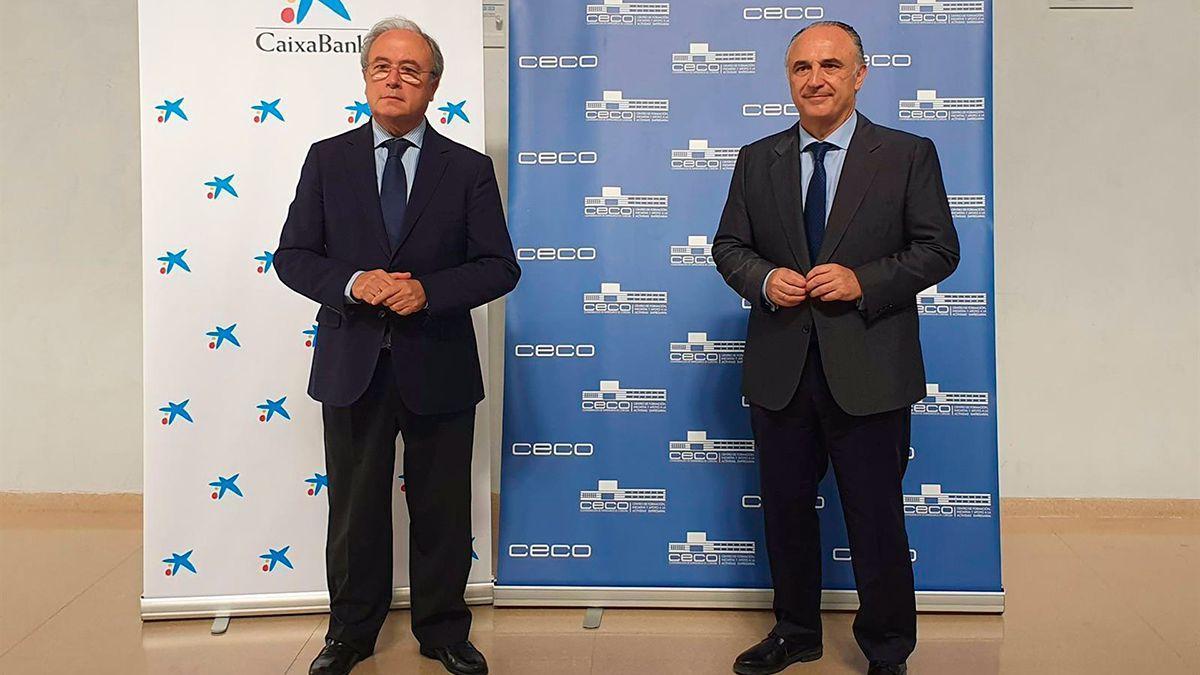 Antonio Díaz y Juan Ignacio Zafra, en la sede de CECO.