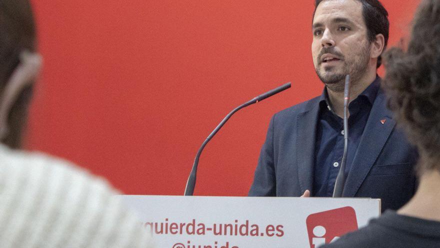 Alberto Garzón valora en rueda de prensa los resultados del 10N.