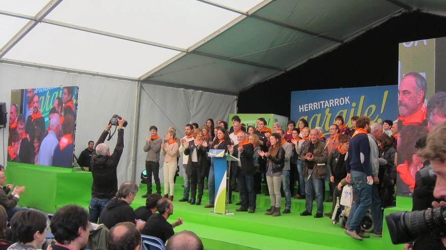 """Olano (EH Bildu) dice que """"o gobiernan PNV, PSE y PP o lo hace EH Bildu"""" y por ello cada voto es """"imprescindible"""""""