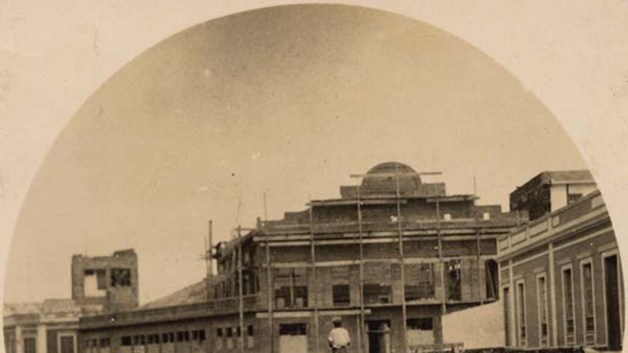 Construcción del cine Millares
