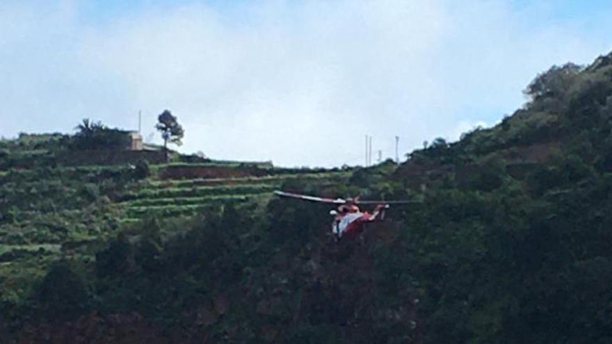 Práctica de rescate este domingo en el barranco de La Galga.