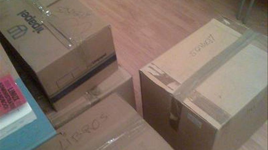 Cajas de libros (que yo no llevaré), por Chesi