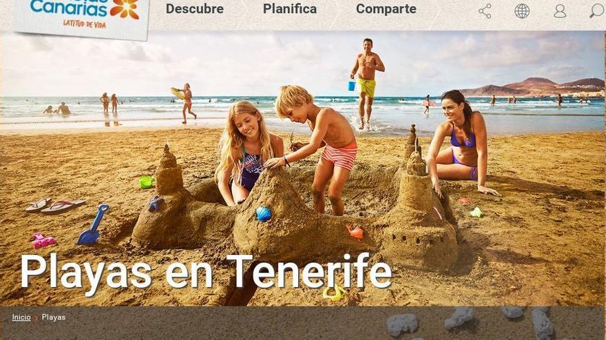 Promotur utiliza una imagen genérica de Las Canteras, aunque sin identificar, para promocionar las playas del Archipiélago.