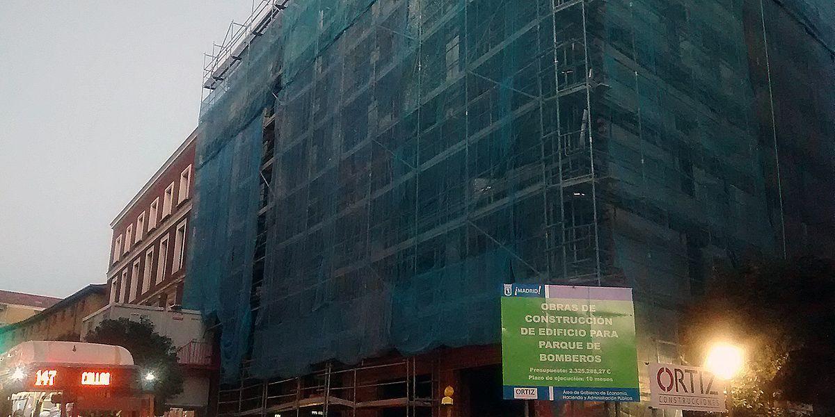 Estado actual de las obras del Parque de Bomberos de San Bernardo