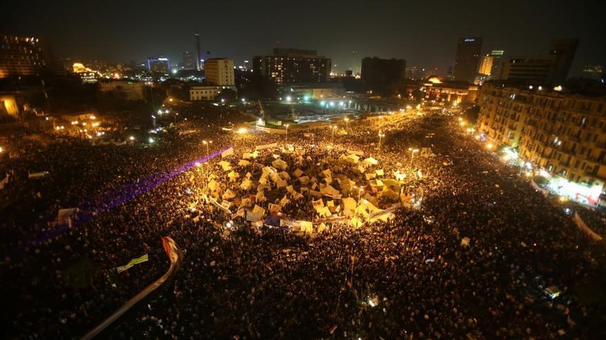 La plaza Tahrir, llena para desafiar a Morsi
