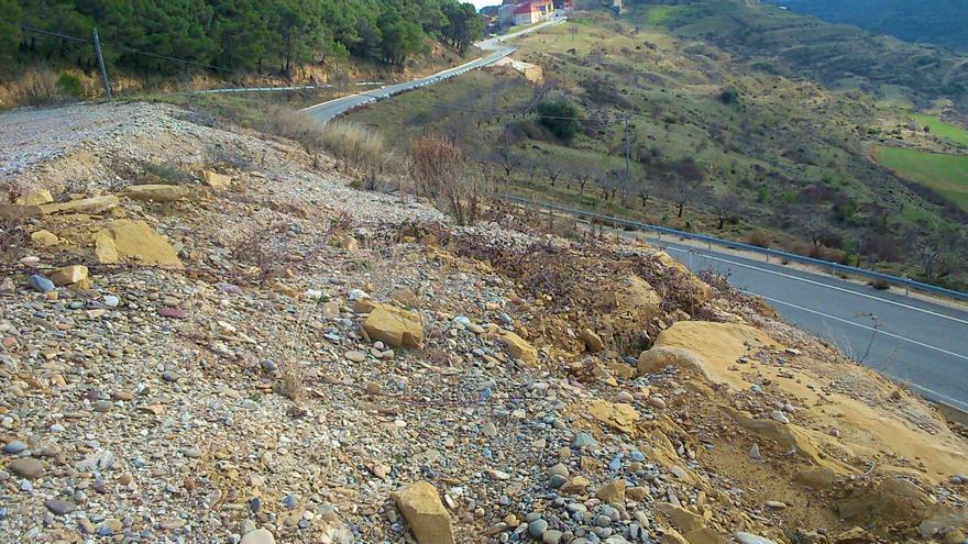 Archivo - Cohesión Territorial licita las obras de estabilización del talud situado en la carretera NA-5310 a su paso por Ujué