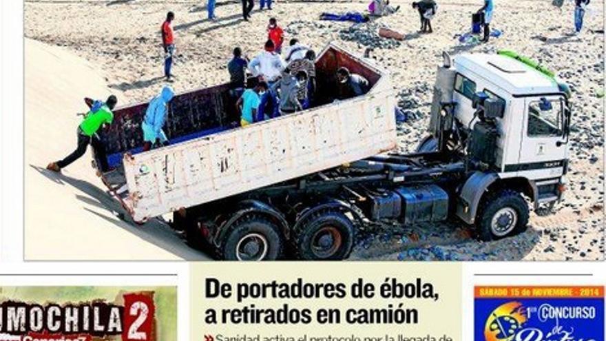 Portada del periódico Canarias7