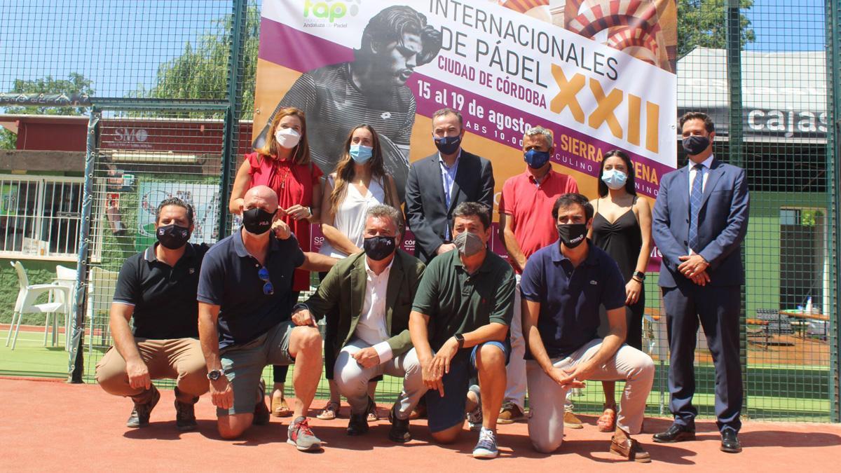 Presentación de los Internacionales de pádel de Córdoba