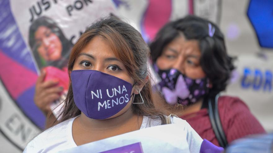 El reclamo contra los femicidios está en las calles de toda Argentina, en la foto la marcha del 8M en Jujuy.