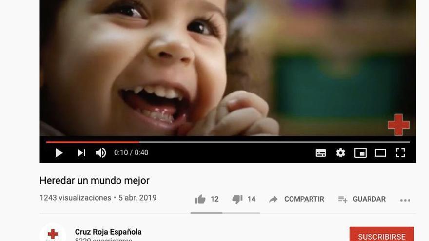Vídeo de Cruz Roja sobre los testamentos solidarios, publicado en abril de 2019.