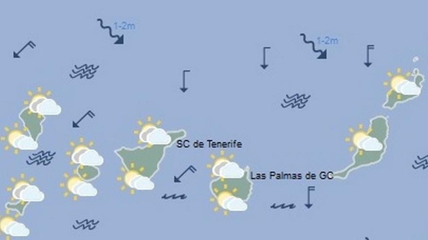 Tiempo en Canarias para este lunes, 23 de enero de 2017