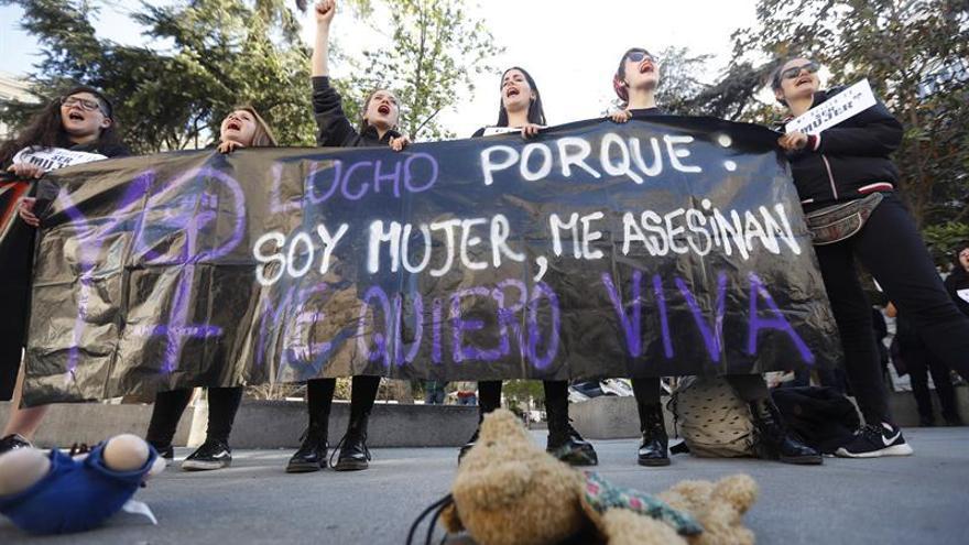 Una protesta contra la violencia machista / EFE