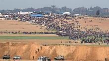 El ejército israelí mata a dieciséis palestinos en el inicio de las protestas de 'La Marcha del Retorno'
