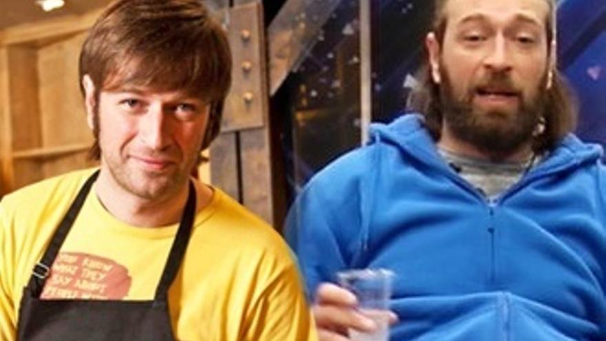 Julius con barba en 'GH VIP' contra Julius afeitado en Canal Cocina a la vez
