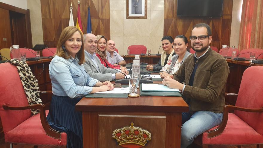 Grupo de CC en el Cabildo de La Palma.