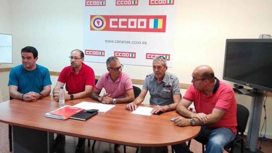 Rueda de prensa ofrecida este martes por CCOO.