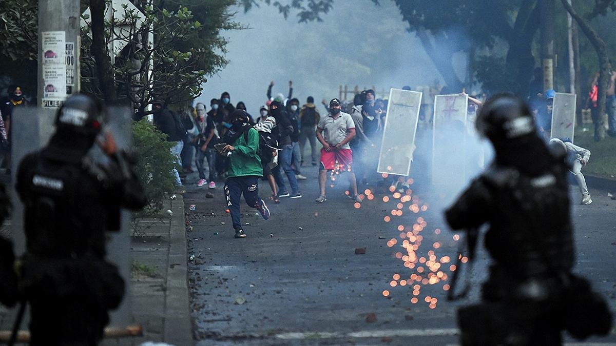 Protestas en Colombia por la reforma tributaria