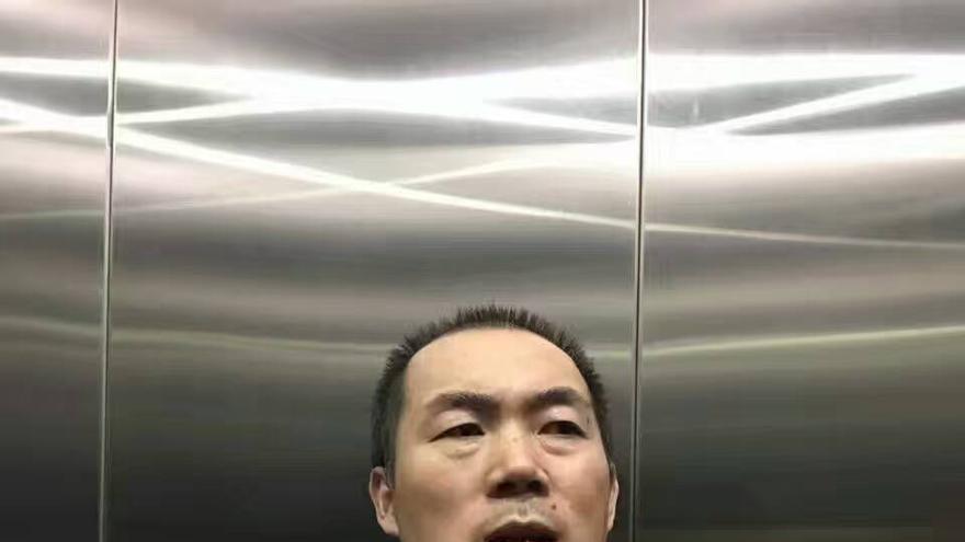 El abogado Li Chunfu, tras su liberación. Imagen cedida.