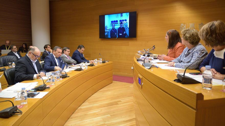 Álvaro Pérez 'El Bigotes' comparece por videoconferencia desde la cárcel en la comisión de investigación de Feria Valencia