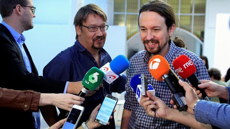 """Iglesias y Domènech apoyan el 1-O solo como """"movilización política"""""""