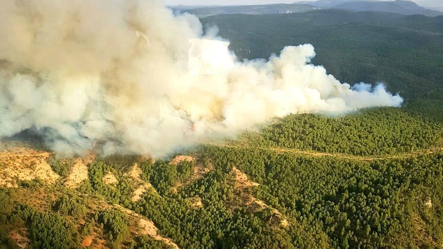 Incendio en Carrascosa