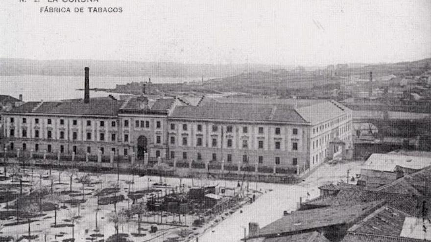 Imagen antigua de la Fábrica de Tabacos de A Coruña