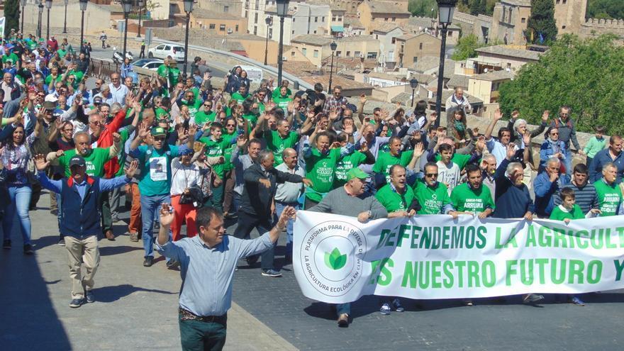 Manifestación en Toledo en defensa de la agricultura ecológica