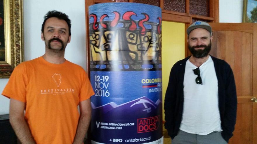 José Víctor Fuentes, director del Festivalito de La Palma, y David Pantaleón.