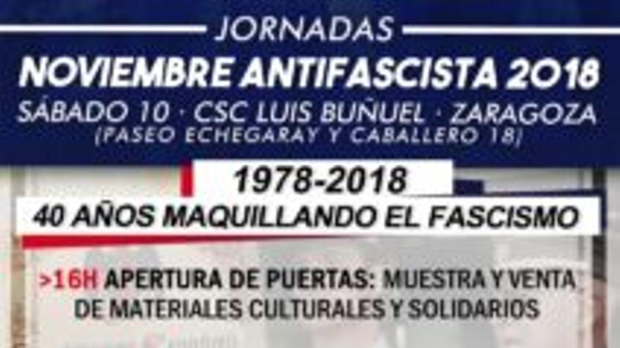 Cartel de la jornada en el CSC Luis Buñuel