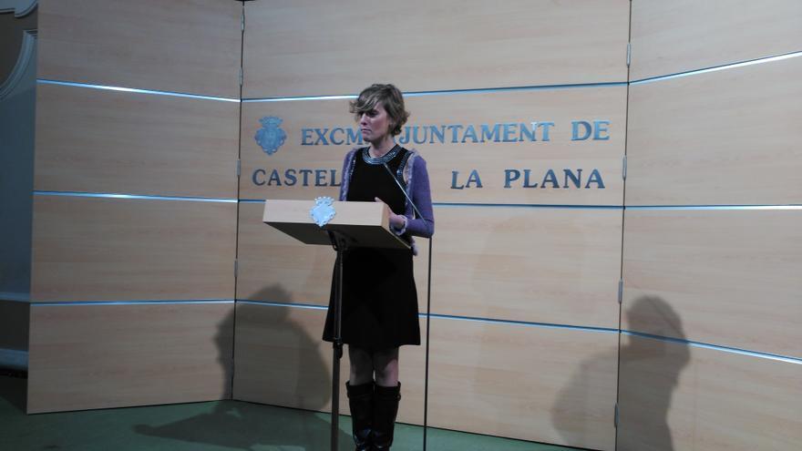 Verónica Ruiz, portavoz del Gobierno del Ayuntamiento de Castellón.