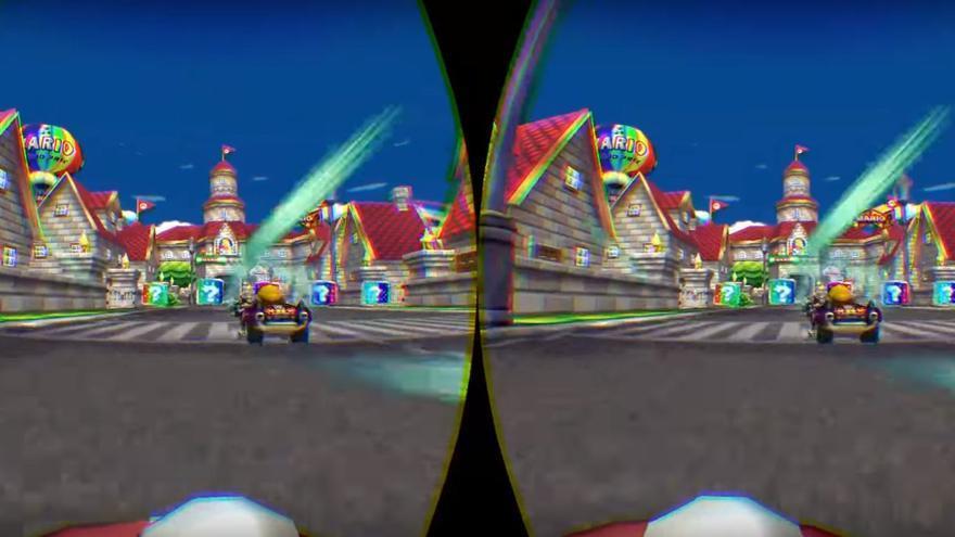 Así se juega a 'Mario Kart' con el emulador Dolphin VR (Imagen: penkamaster)