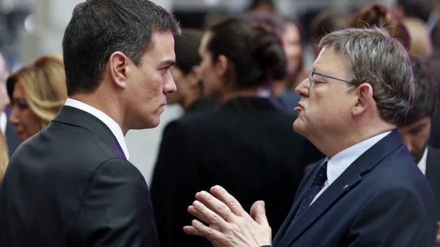 Pedro Sánchez y Ximo Puig.