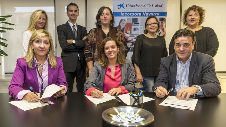 La Obra Social La Caixa y Amedna fomentarán la contratación de personas en riesgo de exclusión
