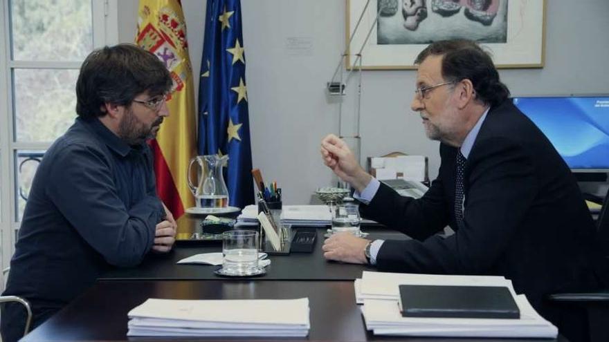 Rajoy en la entrevista con el periodista Jordi Évole en Salvados, La Sexta, el 3 de abril.