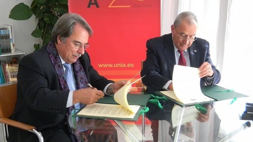 Acuerdo de colaboración entre la UNIA y la Asociación Universitaria Iberoamericana de Postgrado