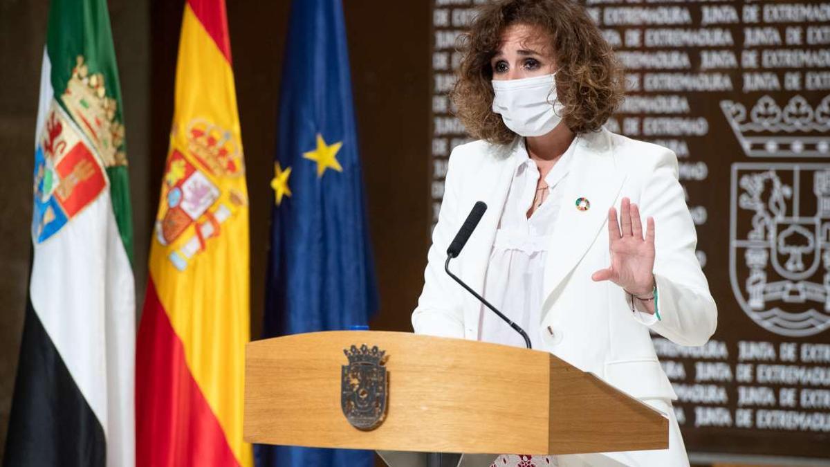 La consejera para la Transición Ecológica y Sostenibilidad, Olga García, este viernes en Mérida