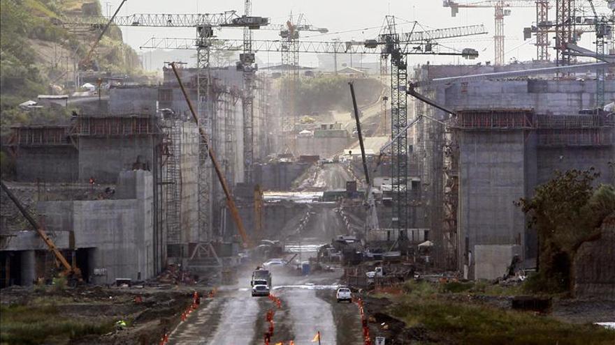 Vista general de la obra del Canal de Panamá