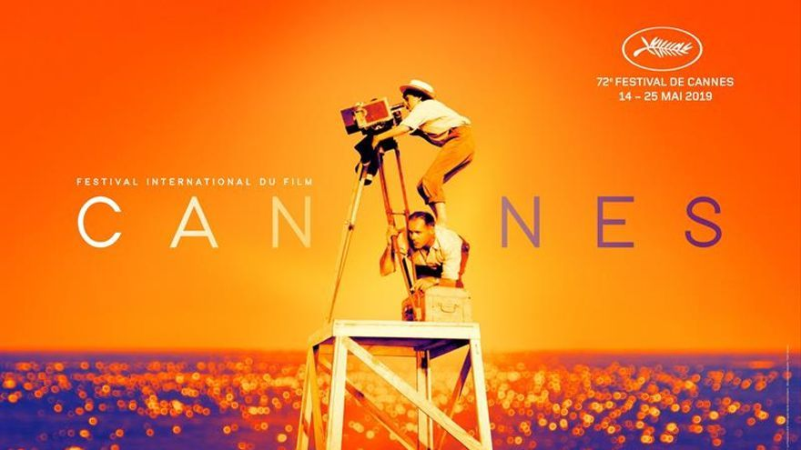 Imagen facilitada por la organización del Festival de Cannes, que muestra el cartel de la 72ª edición del festival de cine.