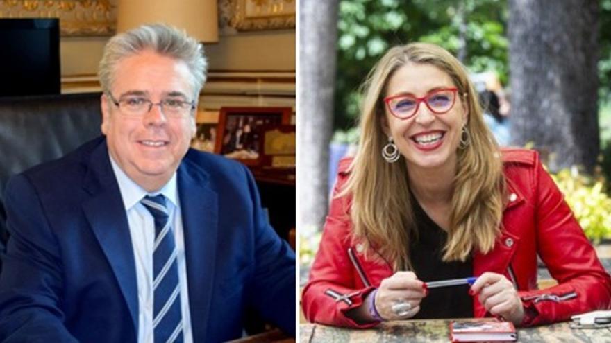Los extremeños Ignacio Sánchez Amor (PSOE) y María Eugenia Rodríguez Palop (Unidas Podemos), diputados en el Parlamento Europeo