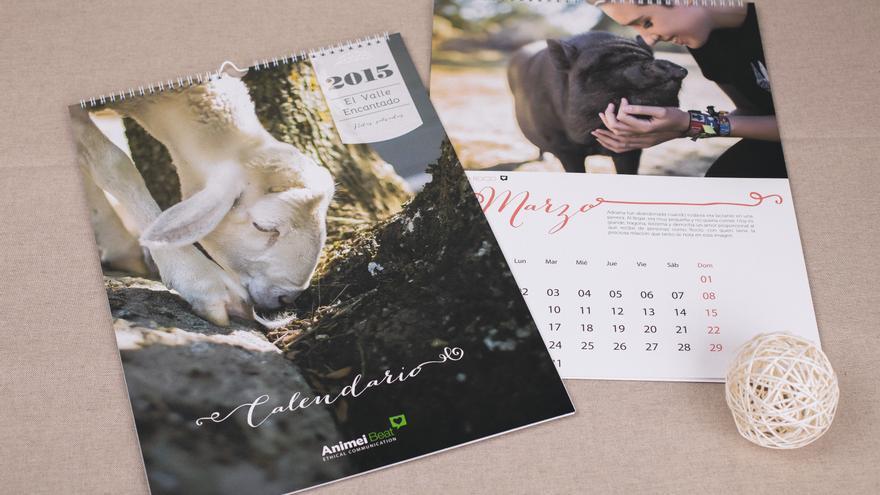 Calendario 2015 santuario El Valle Encantado. Diseñado por Animei Beat y en venta en Veggie Room